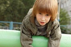 Boy child cute outdoor portrait Royalty Free Stock Photos