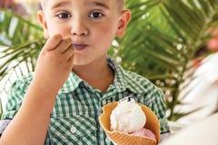 Boy child ice cream Stock Photography