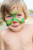 Boy child with a mask on her face Stock Photography