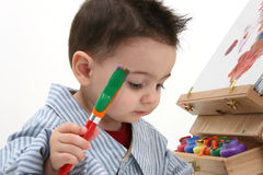 Boy Child Painting 02 Royalty Free Stock Image