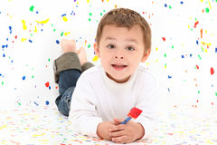 Boy Child Painting Royalty Free Stock Images