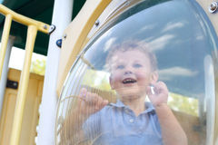 Boy, child at playground Stock Image