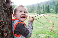 Boy child playing. Royalty Free Stock Image