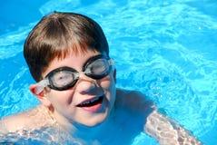 Boy child pool Royalty Free Stock Image