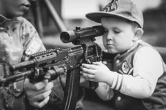 Boy, Child, Portrait, Military Royalty Free Stock Photos