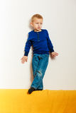 Boy child preschooler playing at home Royalty Free Stock Photography
