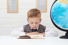 Boy Child Read Book, Children Education Royalty Free Stock Photography