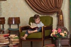 Boy Child Read Book, Children Education Stock Photography