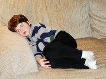 Boy child sleeping stock photos