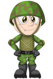 Boy child soldier war character cartoon  illustration Royalty Free Stock Image
