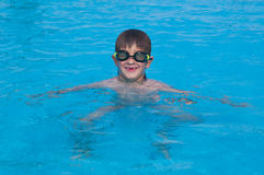 Boy child swimming Royalty Free Stock Photo