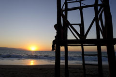 Free Boy Childhood Silhouette Stock Photo - 69063800
