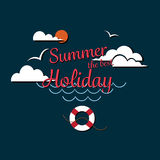 Poster Summer thebest holiday enjoy Stock Images