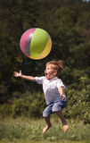 Boy children playing ball Stock Images
