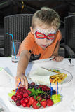 Boy on a children's party Royalty Free Stock Images
