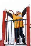 Boy on a children's playground Stock Photography