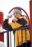 Boy on a children's playground Royalty Free Stock Photo