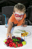Boy on a children& x27;s party Royalty Free Stock Photos