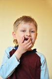 Boy And Chocolate Royalty Free Stock Images