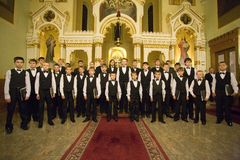 Boy Choir of Munkacs perform in Budapest Stock Photography