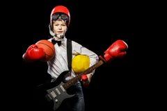 Boy chooses a profession Royalty Free Stock Photo