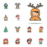Boy  christm as colored icon. Christmas avatars icons universal set for web and mobile vector illustration