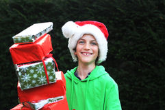 Boy at christmas Stock Photography