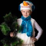 Boy Christmas costume snowman Royalty Free Stock Photo