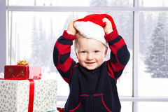 Boy with christmas gift Stock Photography