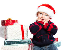 Boy with christmas gift Royalty Free Stock Photos