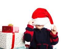 Boy with christmas gift Stock Photography