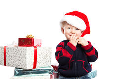 Boy with christmas gift Royalty Free Stock Images