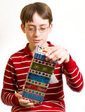 Boy with Christmas Gift Stock Image