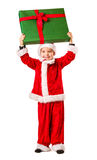Boy and Christmas gift Stock Photo