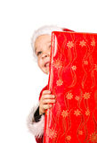 Boy and Christmas gift Stock Image