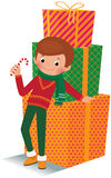 Boy with christmas gift Royalty Free Stock Photography