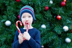 Boy at christmas Royalty Free Stock Images
