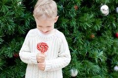 Boy at christmas Stock Photo