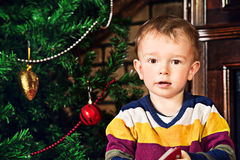 Boy on Christmas Royalty Free Stock Photography