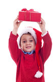 Boy with christmas present Stock Photography