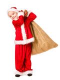 Boy and Christmas sack Stock Image