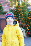 Boy at christmas time Stock Image