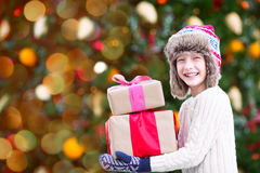 Boy at christmas time Stock Photography