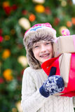 Boy at christmas time Stock Photos