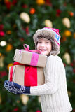 Boy at christmas time Royalty Free Stock Photos