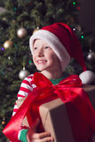 Boy at christmas time Royalty Free Stock Photography