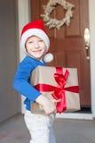 Boy at christmas time Stock Photography