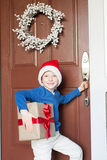 Boy at christmas time Royalty Free Stock Photo