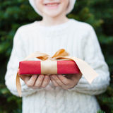 Boy at christmas time Royalty Free Stock Image