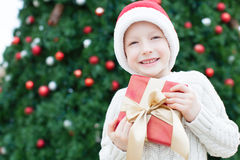 Boy at christmas time Stock Photo